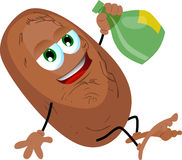 Drunk potato Royalty Free Stock Images