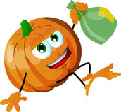 Drunk pumpkin Royalty Free Stock Image