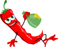 Drunk red hot chili pepper Royalty Free Stock Photos