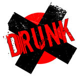 Drunk rubber stamp Royalty Free Stock Images