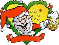 Drunk santa. Hand-drawn Vector illustration of an drunk santa Stock Images