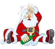 Drunk Santa stock images