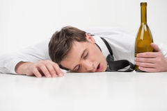 Drunk sleep Stock Images