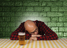 Drunk Sleeping Royalty Free Stock Photo
