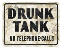 Free Drunk Tank Sign Jailhouse Vintage Jail Prison Intoxicated Royalty Free Stock Photos - 125182828