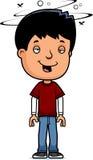 Drunk Teen Boy. A cartoon illustration of a teenage boy looking drunk Royalty Free Stock Photography