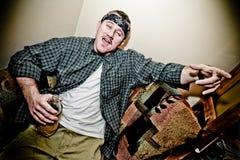 Drunk Tough Man Stock Image