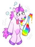 Drunk Unicorn Stock Images