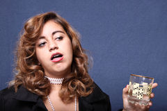 Drunk woman Royalty Free Stock Photo