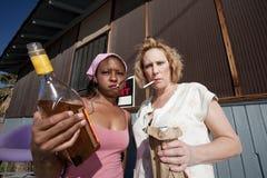 Drunk Women Stock Photo