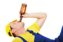 Drunk worker Royalty Free Stock Photo
