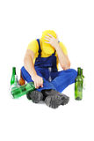 Drunk worker Stock Photos