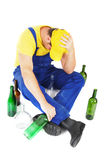 Drunk worker Stock Image