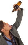 Drunk young  businessman Stock Image