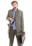 Drunk young  businessman Royalty Free Stock Photography