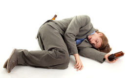 Drunk young  businessman Royalty Free Stock Images