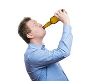 Drunk young man Stock Image