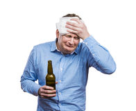 Drunk young man Royalty Free Stock Photography