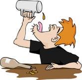 drunkard κενή κούπα s απεικόνιση αποθεμάτων