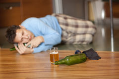 Drunkard Royalty Free Stock Images