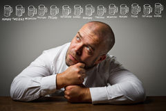 Drunkard and beer Royalty Free Stock Image