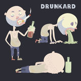 Drunkard. Royalty Free Stock Photography