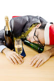 Drunken businessman Stock Photos