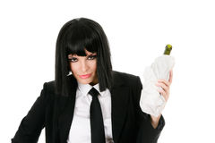 Drunken businesswoman Stock Photo