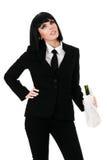 Drunken businesswoman Stock Images