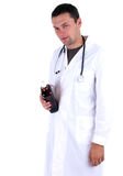 Drunken doctor Stock Photo