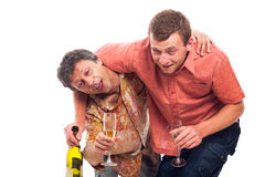 Drunken friends Stock Photos