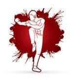 Drunken Kung fu pose. Illustration graphic vector Stock Photo
