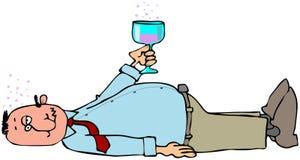 Drunken man Stock Images