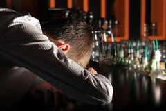 Drunken Man at the Bar Royalty Free Stock Photography