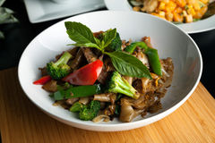 Drunken Noodle Thai Dish Stock Photo