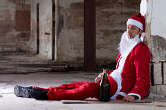 Drunken Santa royalty free stock photos