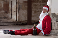 Drunken Santa Royalty Free Stock Photo