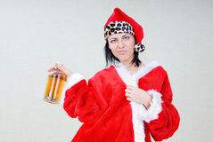 Drunken Santa Royalty Free Stock Photos