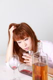 Drunkenness Woman Royalty Free Stock Photography