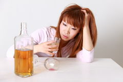 Drunkenness Woman Stock Photography
