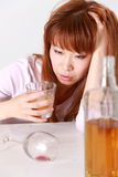 Drunkenness Woman Royalty Free Stock Image