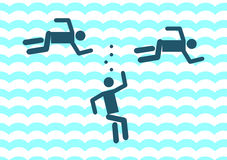 Drunkningmansymbol illustrationteckensymbol Royaltyfri Bild