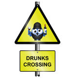Drunks crossing sign Stock Images