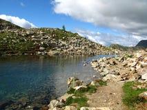 druo地球法国湖降低红色线索 免版税库存照片