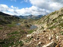 druo ziemscy France jeziora obniżają czerwonego ślad Zdjęcia Stock