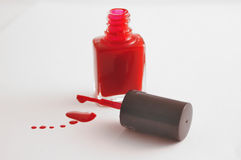 Druppel 3 van het nagellak Stock Foto