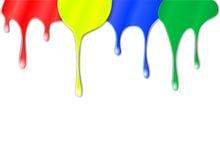 Druppels van kleurenverf Stock Afbeelding
