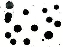 Druppels van verf Stock Illustratie