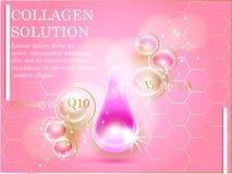 Druppeltje van het premie het glanzende serum Vector illustratie Stock Afbeelding