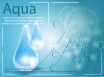 Druppeltje van het premie het glanzende serum Vector illustratie Royalty-vrije Stock Afbeelding